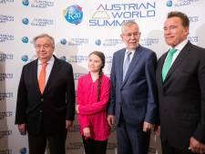 """Greta Thunberg et Arnold Schwarzenegger s'allient pour le climat: """"Nous devons tout changer"""""""