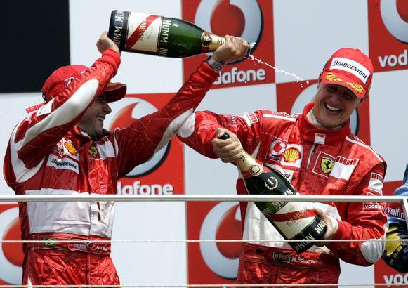 Massa mocht mee het podium op toen Schumacher in 2006 voor de vijfde keer de GP van de Verenigde Staten won.