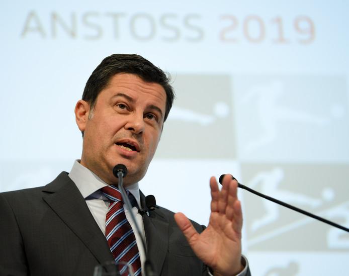 Christian Seifert tijdens zijn nieuwjaarstoespraak in Frankfurt.