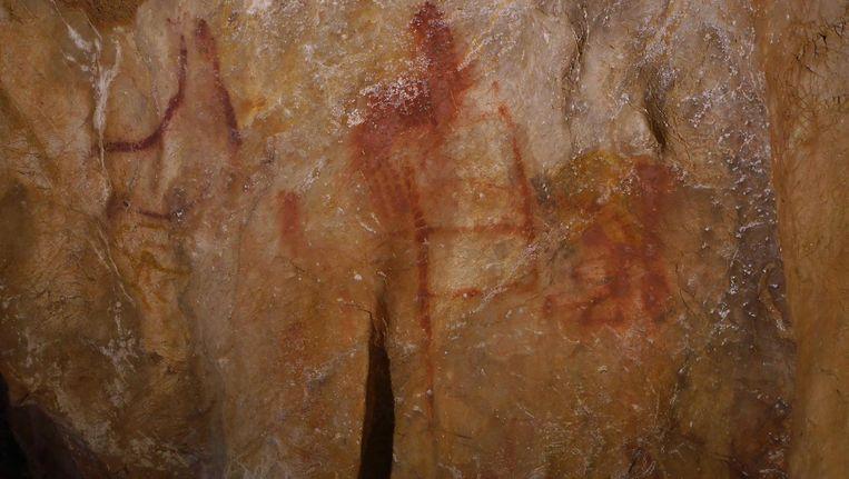 Grottekening in La Pasiega, Noord-Spanje. Beeld Science