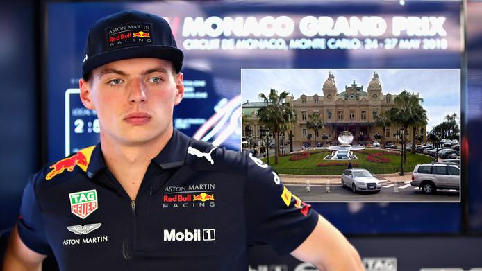 Max Verstappen. Inzet: het Casino van Monte Carlo.