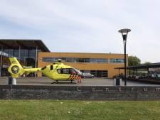 Traumahelikopter landt in Schijndel voor gevallen fietsster