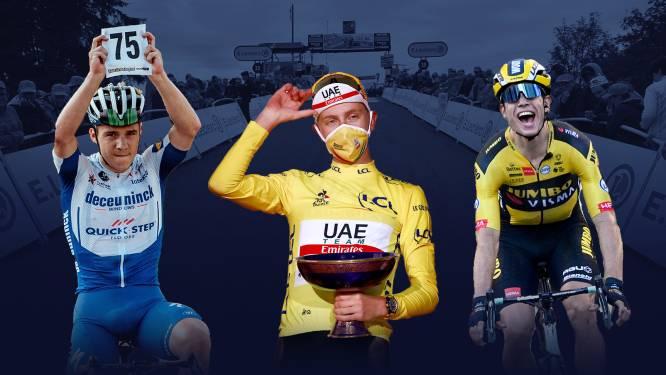 Wout van Aert en Remco Evenepoel behoren tot 15 genomineerden voor Vélo d'Or