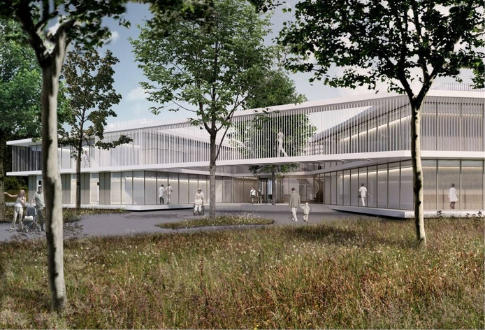 Een impressie van het nieuwe VieCurie-ziekenhuis in Venray.