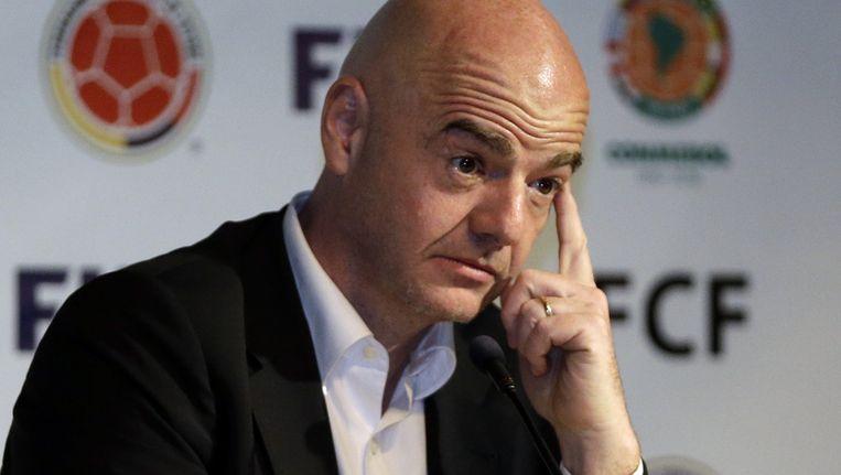 Fifa-topman Gianni Infantino, die in februari werd gekozen. Beeld ap
