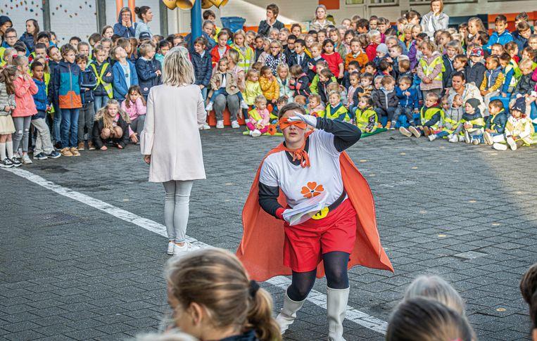 De Mandelbloesem gaat dit schooljaar met de schoolhelden op zoek naar de talenten van de kinderen.