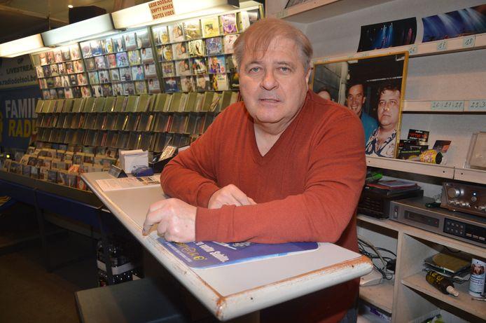 Erik Lemmens in zijn vroegere cd-winkel in de Geraardsbergsestraat.