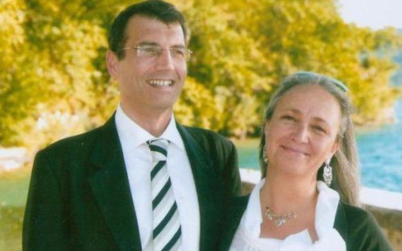 De echte Xavier Dupont de Ligonnès met echtgenote Agnès.