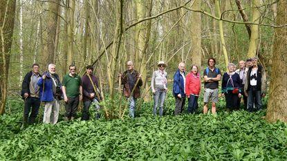 Wandelaars ontdekken de boslandbouw