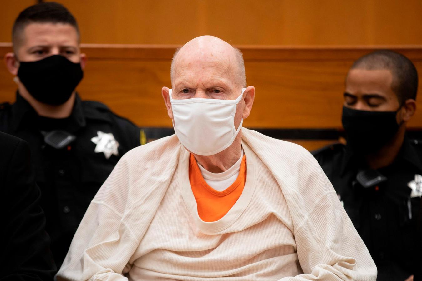Joseph James DeAngelo in de rechtszaal.