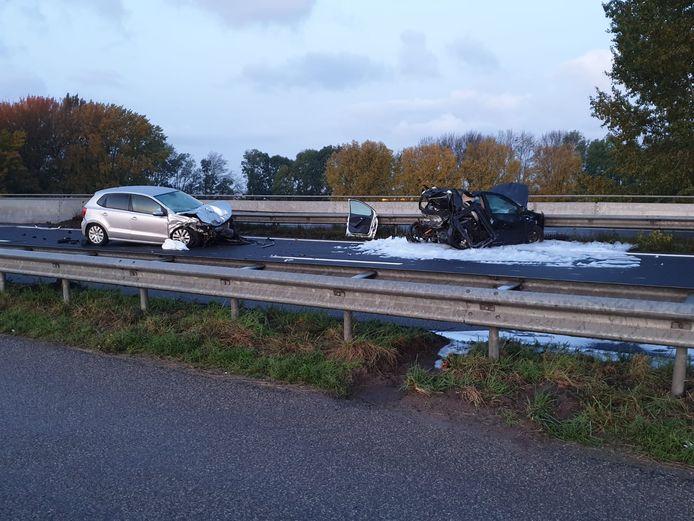 A17 dicht ter hoogte van knooppunt De Stok door ongeluk in richting van Dordrecht