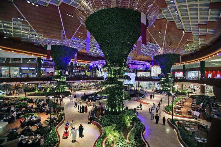 De 'Mall van Qatar', het grootste winkelcentrum in de hoofdstad Doha. Beeld AP