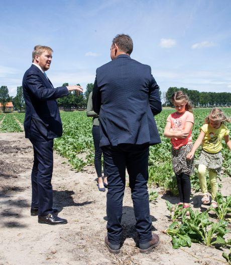 Hoog bezoek: koning Willem-Alexander gaat langs bij Abbenbroekse boeren Peter en Rosalinda