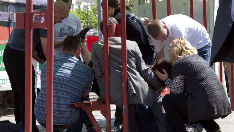 Door vier ontploffingen in de Oekraïense stad Dnjepropetrovsk zijn zeker 27 mensen gewond geraakt. Dat meldde een woordvoerder van het Oekraïense ministerie voor Noodgevallen vrijdag. Beeld anp
