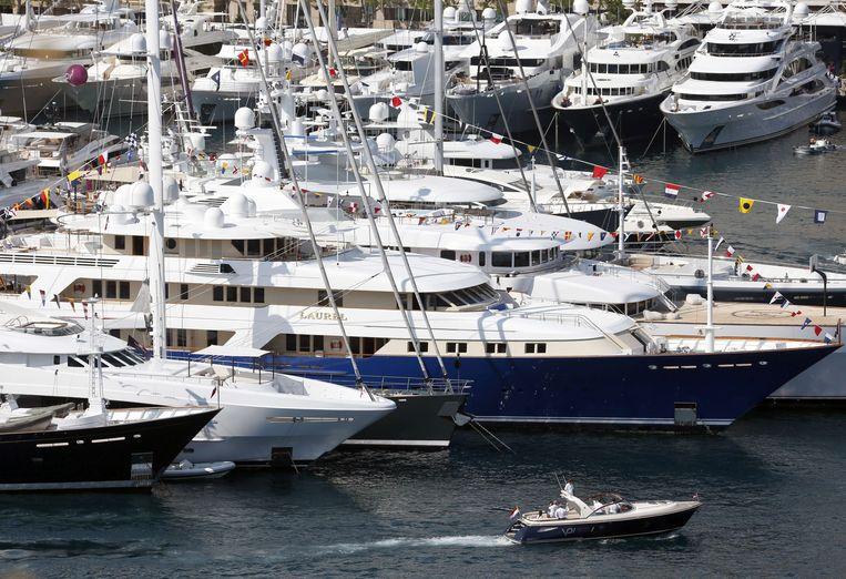 Luxe jachten in de haven van Monaco. (Foto ter illustratie) Beeld AFP