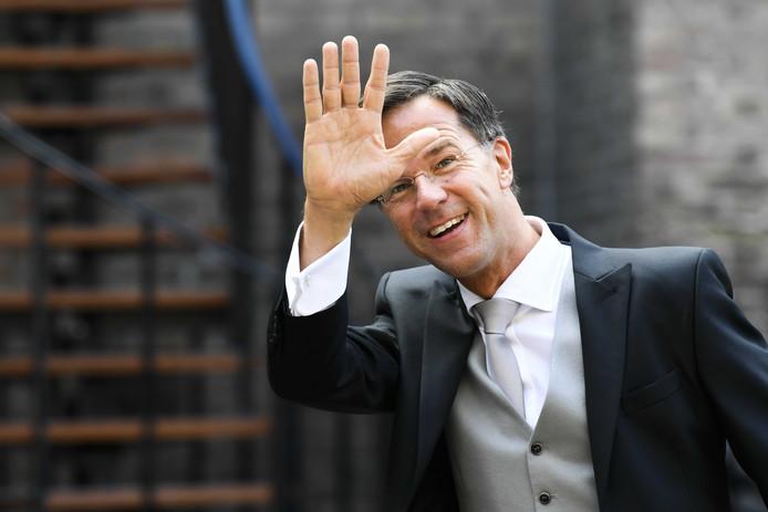 Minister-president Mark Rutte arriveert bij de Ridderzaal op Prinsjesdag.