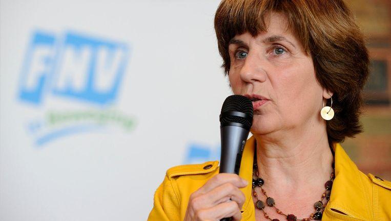 Toen minister Asscher vorig jaar oktober liet weten vluchtelingen sneller aan een baan te willen helpen, koppelde vicevoorzitter Catelene Passchier van de FNV dit aan de werkloosheid. Beeld null