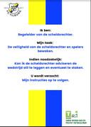 De kaart, zoals ouders die meekrijgen als ze een scheidsrechter begeleiden. FC Tilburg is een van de clubs die aan het initiatief meedoen.