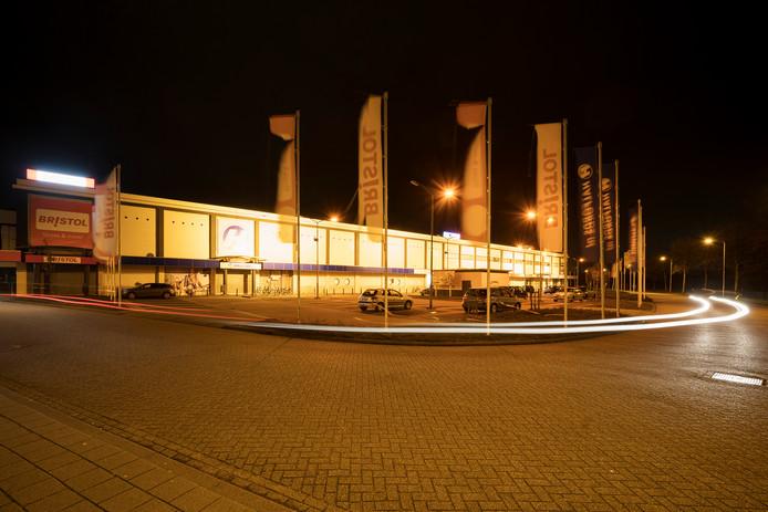 Den Bosch 02-01-2019  De Bossche Groenen strijden tegen 'lichtvervuiling', hier de winkels aan de Gruttostraat.