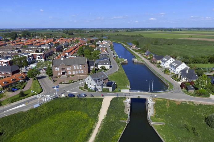 Water speelt een belangrijke rol in het dorp.
