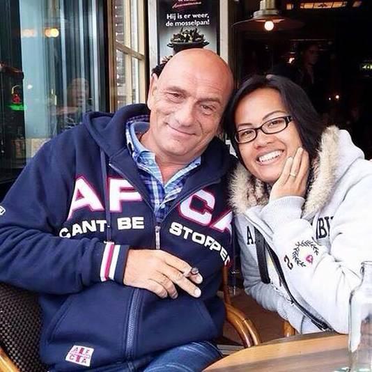 Pieter Hoovers en zijn vrouw Tae.