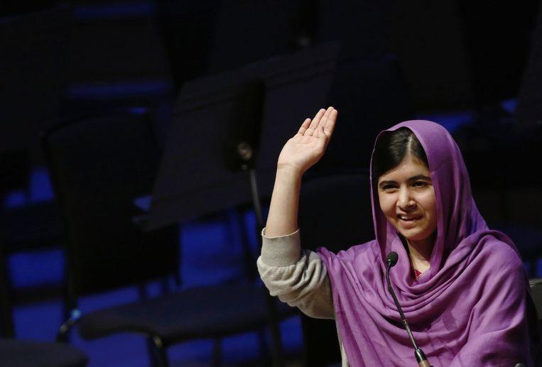 Malala in augustus tijdens het Women of the World Festival (WOW) in Londen. Beeld Reuters