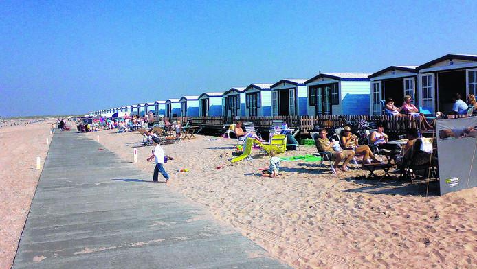 Strandhuisjes bij Hoek van Holland. Foto ter illustratie.