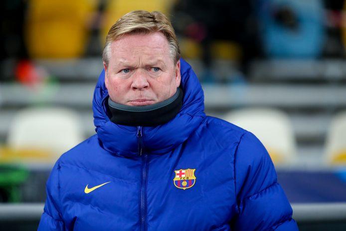 Ronald Koeman afgelopen woensdag tijdens Dinamo Kiev - FC Barcelona (0-4) in de Champions League.