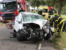 Man door brandweer uit auto bevrijd na botsing tegen boom in Oud Gastel
