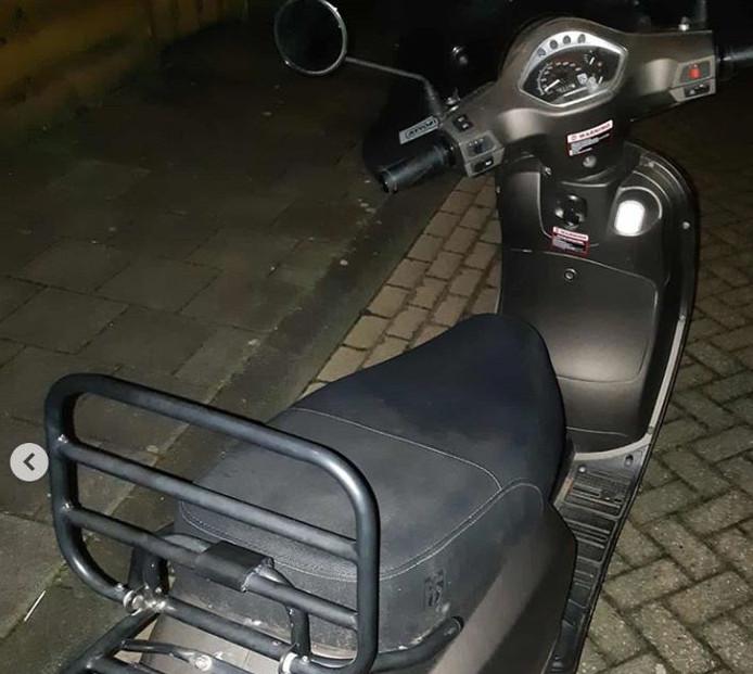 De gestolen scooter
