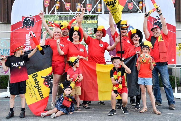 De organisatoren van Beduiveld Lebbeke! aan het sportcentrum.