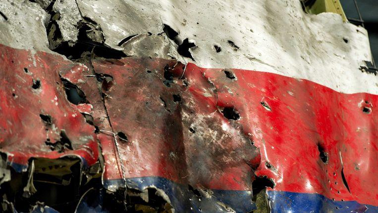 Resten van de neergehaalde MH17 Beeld epa