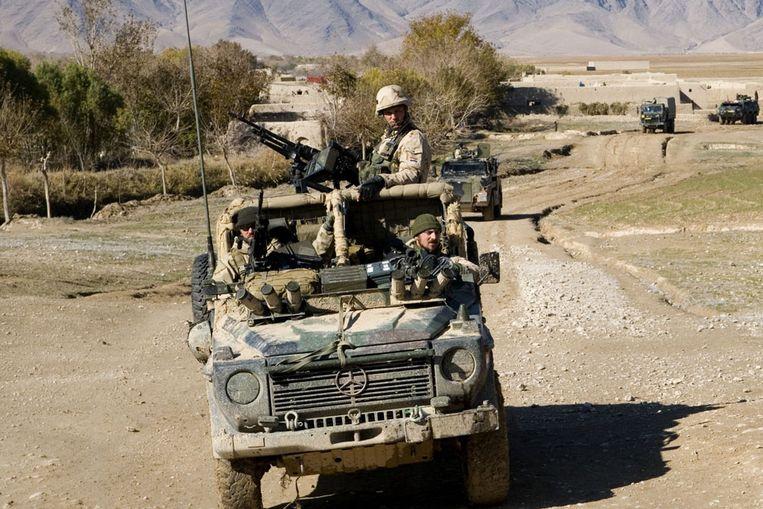 Nederlandse militairen in Uruzgan. (ANP) Beeld