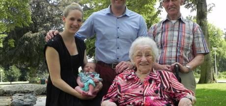 Leentje Raaijmakers-Rommers is met haar 107 jaar de oudste van Brabant