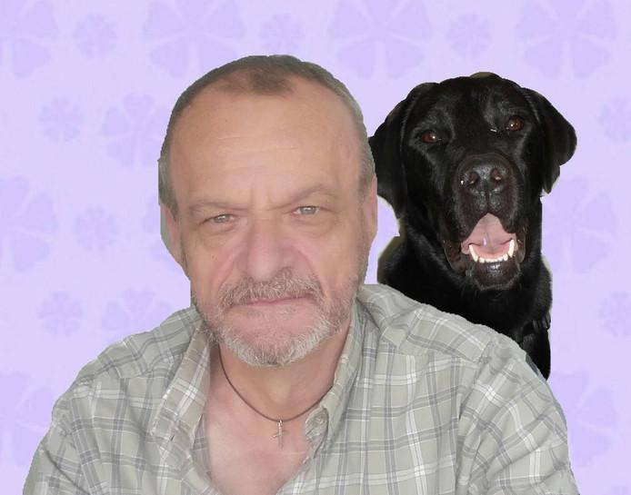 Ben Arends met zijn hond Anton.