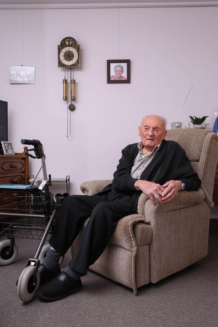 Gerard Schotte, toen hij 100 jaar was.