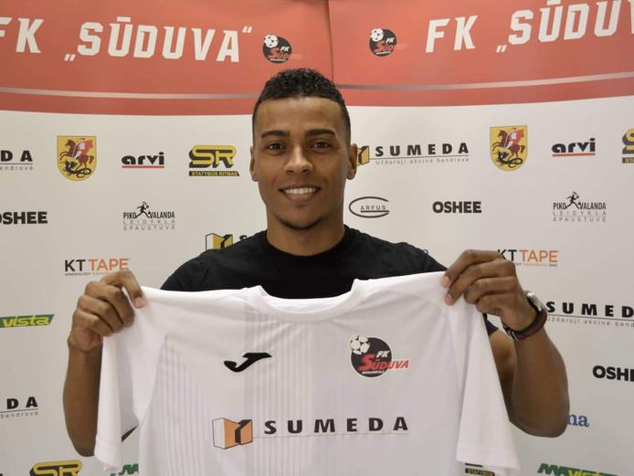 Jeremy de Nooijer eerder dit jaar met het shirt van FK Suduva Marijampole.