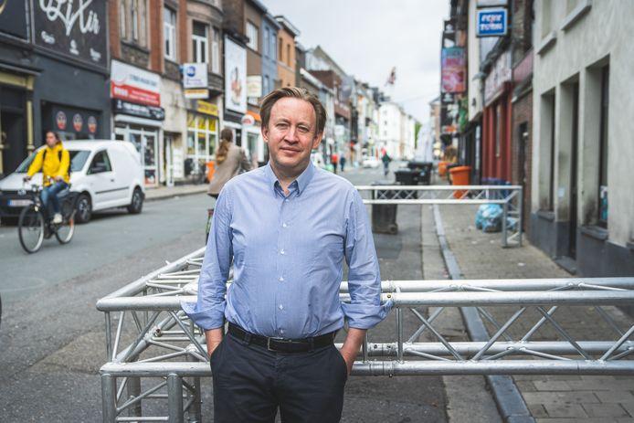 Tim Joiris in de Overpoortstraat.