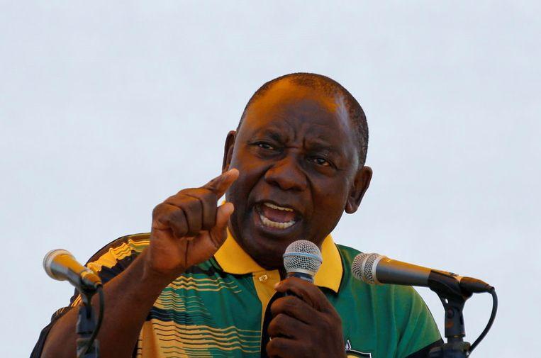 Voorzitter van het ANC, Cyril Ramaphosa Beeld REUTERS