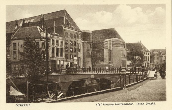 Het postkantoor na de oplevering, in 1924.