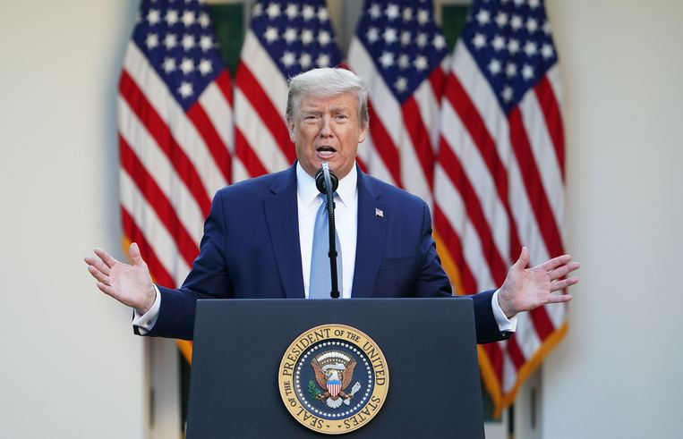 President Donald Trump Beeld AFP