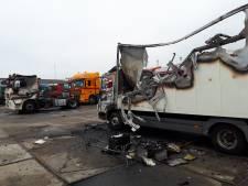 Duo steekt trucks in brand bij Nijmeegs vrachtwagenbedrijf