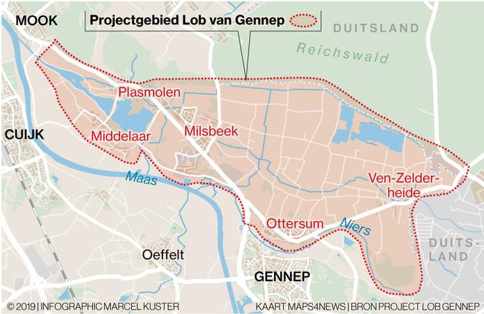 De Lob van Gennep is een gebied dat van oudsher bij extreem hoog water - eens in de 300 jaar - als overloop voor de Maas fungeert.
