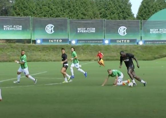 Lukaku scoorde in de oefenmatch tegen Gozzano.