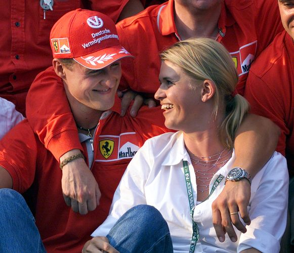 Michael en Corinna Schumacher.