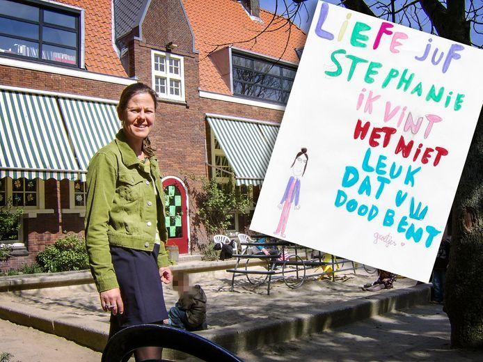 Juf Stephanie Berger-Debast stapte een jaar geleden uit het leven, omdat het werk haar te veel werd.