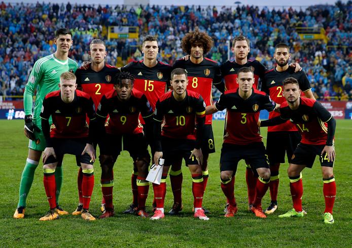 De basiself van België in de uitwedstrijd bij Bosnië.
