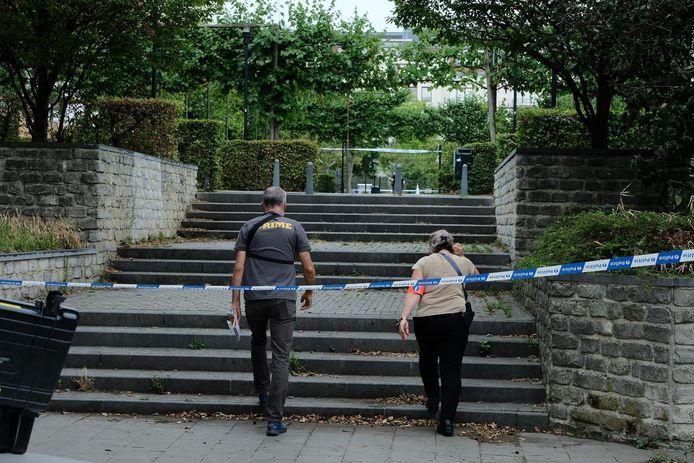 Enkele dagen na de schietpartij in de Adolphe Mathieustraat werd er ook wat verderop in de buurt van het ziekenhuis geschoten.
