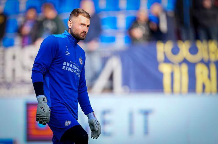 Jeroen Zoet voorafgaand aan Willem II-PSV.