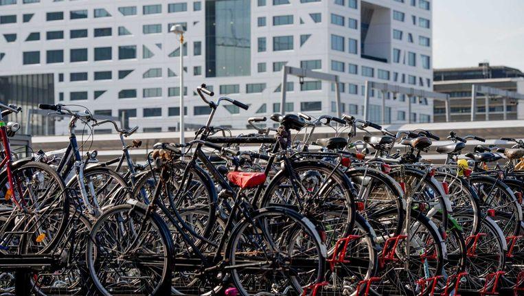 Fietsen in de stalling bij station Utrecht Centraal. Daar wordt begonnen met de bouw van de grootste overdekte fietsenstalling ter wereld, waarin 12.500 fietsen plaats krijgen. Beeld anp